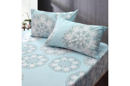 Essina Modern & Stylish Comforter & Fitted Bed sheet set  Cadar Valencia 100% Cotton 620TC Fitted Bedsheet King / Queen / Super Single (6 Design Available )