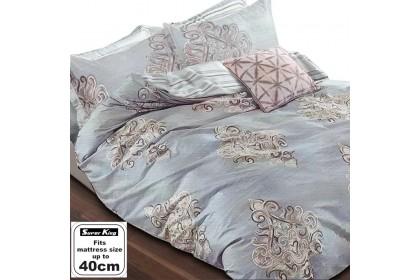 "Essina Kensington Super King Quilt Cover set 100% Cotton 620 thread counts ( fitted sheet fit maximum 16"" high mattress )"
