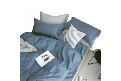 """Essina Kensington 100% Cotton 620TC Fitted Bed Sheet set with Comforter (Fit up to 13"""" mattress)"""