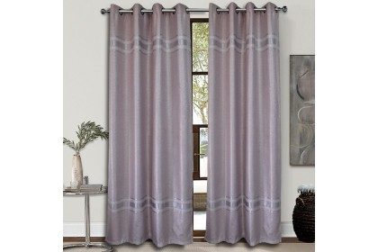 1 PIECE : Essina Eyelet Curtain Blackout 140cm x 260cm - Pink Lady ( Curtain Sale )