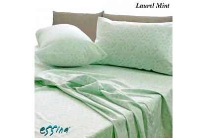 Essina Laurel Mint 100% Cotton , 620TC Fitted Bed Sheet set 33CM ( Belle Collection )