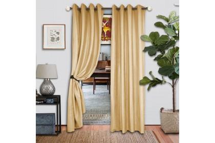 1 PIECE : Essina Premium Eyelet Curtain Blackout 140cm x 260cm - SHANE CREAM (Clearance Sale Curtain)