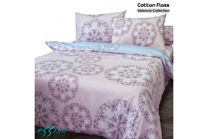 Essina Cotton Floss 100% Cotton 620TC Fitted Bedsheet set with Comforter (Valencia Collection)