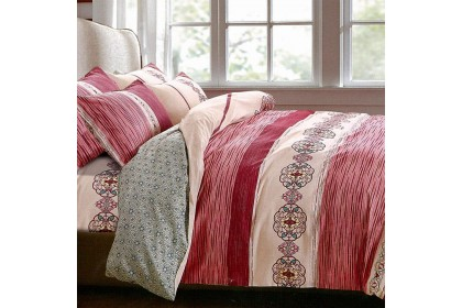 Essina Rasspberry 100% Cotton Valencia Collection 620TC Fitted Bed sheet set (QUEEN size)