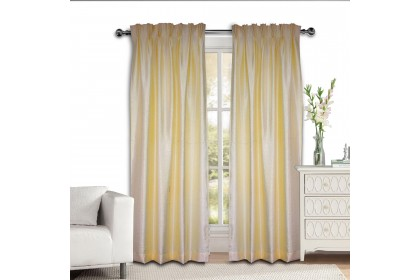 Essina Cresta Cream French Pleated Curtain 1 Layer (Hook type)