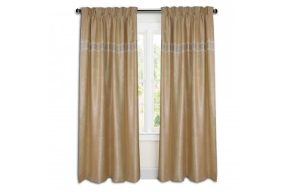 Essina Cortina Premium Blackout French Pleated Curtain 4.5 Sliding Door