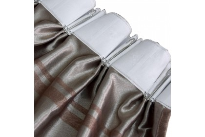 Essina Cortina Premium Blackout French Pleated Curtain 2 Panel Window