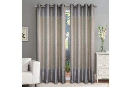 1 PIECE : Essina Eyelet Curtain Premium Blackout 200cm x 260cm - MOSELLE (fit window/sliding door 1 panel - up to 180cm width)