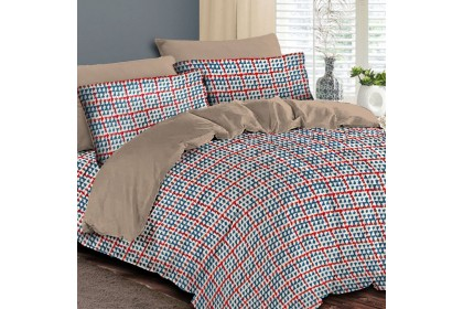 Essina 100% Cotton 500TC Areni Collection Fitted Bedsheet set + Quilt Cover - NEO (Quilt Birthday Promo)