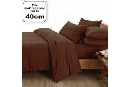 [100% COTTON]Essina 40cm High Mattress Candies 100% Cotton Fitted Bedsheet set with Quilt Cover (40cm-High mattress)