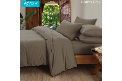 [100% COTTON] Essina Candies Collection Plain & Hotel Comforter & Fitted Bed sheet set 100% Cotton 620TC Bedsheet Cadar Queen / King / Super Single / Single ( 6 Colour Available )