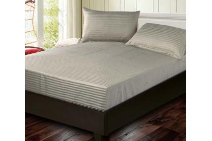 Cozzi Rainbow Microfiber Plush Fitted Bedsheet Cadar Plain with Pillow case King / Queen / Super Single