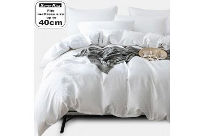 Essina Colour Palette Super King 40cm Comforter & Fitted Bed sheet set Plain & Hotel Cadar Super King 100% Cotton 620 thread counts (fit 16 inch High Mattress)