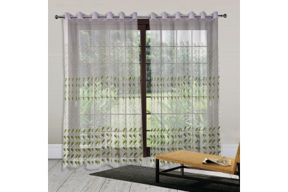 1 PIECE - Essina Eyelet Sheer Curtain 200cm x 260cm - NORA (Fit window/sliding door up to 150cm width)