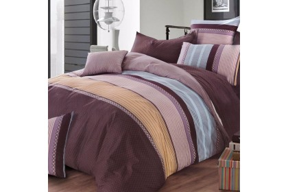 Essina Bailey 100% Cotton 620TC Cadar Queen Fitted Bed sheet Placido Collection