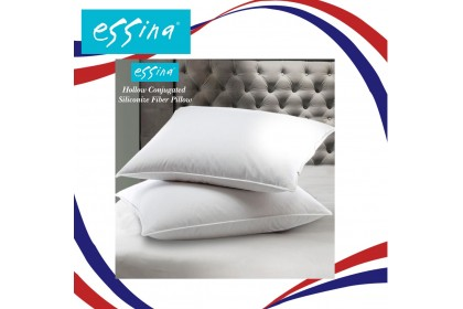 Essina Hollow Conjugated Siliconized Fiber Pillow 100% Polyester Fiber Pillow with Piping - 72cm x 45cm ( 1 piece )
