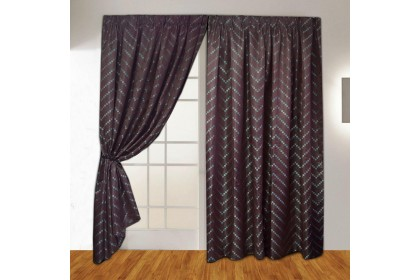 READY STOCK ! Essina French Pleated Curtain Jacquard 1Layer 4.5 Sliding Door - Domini