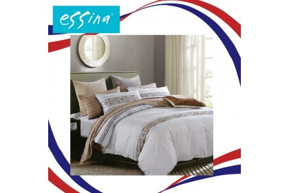 [ MERDEKA SALE ]Essina 100% Cotton Areni Collection 500TC Fitted Bed sheet set - Salvina (Queen) ( Belle Collection )