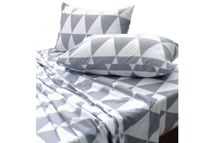 Essina Cliff Hazy Comforter & Fitted Bed sheet set (100% Cotton , 620TC , Valencia Collection)