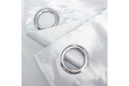 1 PIECE : Essina Premium Eyelet Curtain Semi Blackout 140cm x 240cm - GLITTER ( 3 COLOURS AVAILABLE WHITE / GREY / BROWN )
