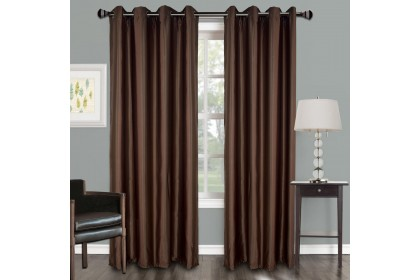 1 PIECE : Essina Premium Eyelet Curtain Semi Blackout 140cm x 240cm - GLITTER ( 3 COLOURS AVAILABLE WHITE / GREY / BROWN )