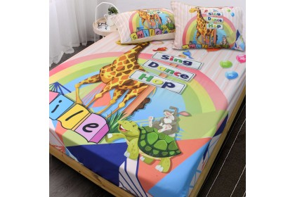Essina ( 3 in 1 ) Kids 1pc Comforter & 2 Pillowcases Panel Print  Bambino Collection ( Bedsheet is not included)