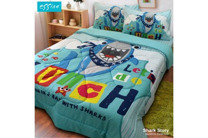 Essina ( 6 IN 1 ) Kids Comforter with Bedsheet & 4 Pillowcases Panel Print  Bambino Collection