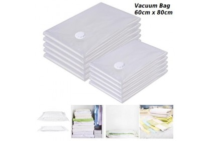 3 piece x (60cm x 80cm) Storage Bag Large Space Saver Saving Storage Vacuum Seal Compressed Organizer