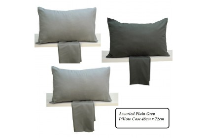 Cozzi Microfiber Plain Grey Pillow Case 1 piece (PILLOW NOT INCLUDED)