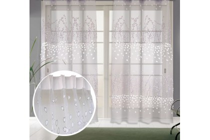 Ready Stock : 1 Panel - Essina French Pleated Sheer Curtain 120cm x 260cm - Baneberry (Hook type)