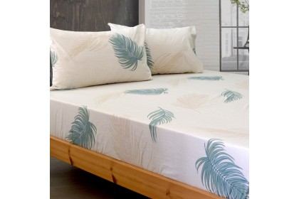 Essina Modern Style 100% Cotton Fitted Bed Sheet Cadar 100% 620TC Valencia King / Queen / Super Single / Single