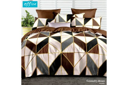 Essina Arcadia Fitted Bed Sheet with Pillow Case Modern Style 500TC Cadar King/Queen /Super Single ( 33cm High Mattress)