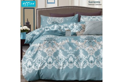 [100% Cotton ]Essina Valencia Fitted Bed Sheet Cadar  620TC King / Queen /Super Single[Amore/Sorrento/Sugar Rose/Daisy]
