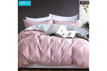 [100% Cotton ]Essina Super King 40cm Valencia Fitted Bedsheet with Pillow Cases & Bolster Cover ( 4 in 1) High Mattress