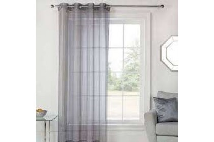 READY STOCK : 1 Panel - Essina Eyelet ( Ring type) Sheer Curtain 140cm(W) x 260cm(L) - COLOURS