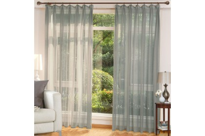 READY STOCK : 1 Panel - Essina French Pleated ( Hook Type)  Sheer Curtain 140cm(W) x 260cm(L) - COLOURS