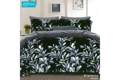[NEW] Essina Arcadia 500TC Quilt Cover & Fitted Bed Sheet set Cadar Queen/King/Super Single Modern Style ( 33cm high mattress) [ Bohemia , Violeta , Octave , Cosmic , Origami ]