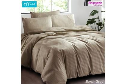 Essina Prismatic Plain Quilt Cover set + Fitted Bed sheet Cadar + Pillow case Microfiber Plush King/Queen/Super Single