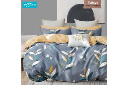 [100% Cotton]Essina Pictorial Collection Comforter & Fitted Bed Sheet 620TC [Size King / Queen / Super Single / Single]