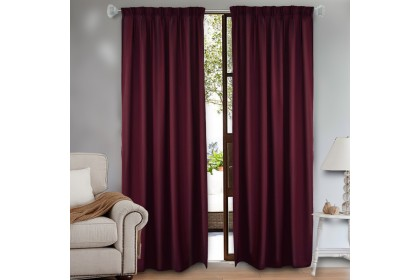 Essina Colours Blackout French Pleated Curtain 1 Layer 1.4M (W) x 2.6M (L) - 1 PIECE ( HOOK TYPE)