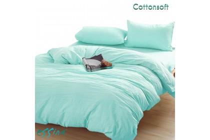 Essina Cotton Soft Comforter & Fitted Bedsheet set Plain Microfiber Plush Cadar Queen / King / Super Single