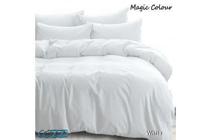 Cozzi Magic Colour Quilt Cover & Fitted Bed Sheet set Cadar  King / Queen / Super Single Plain Microfiber