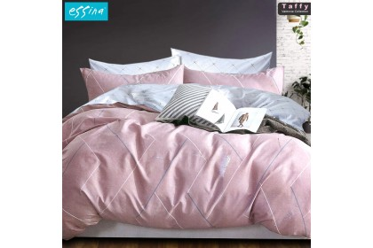 Essina Modern & Stylish Quilt Cover & Fitted Sheet set Valencia 100% Cotton 620TC Cadar King / Queen / Super Single