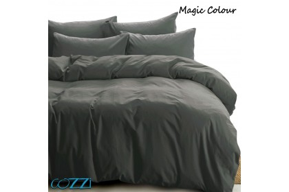 Cozzi Magic Microfiber Plush Fitted Bedsheet Cadar Plain Color King / Queen / Super Single with Pillow Cases