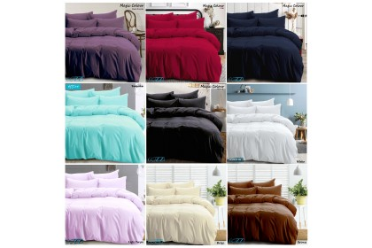 Cozzi Magic Colour Cadar Bedsheet with Comforter King / Queen / Super Single Plain Microfiber