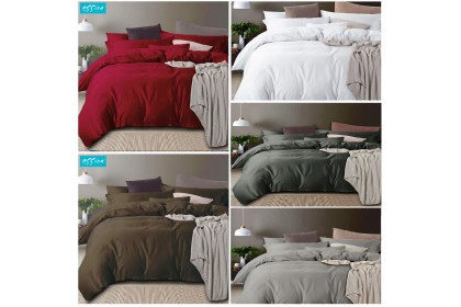 "Essina Egyptian Royale 950TC Fitted Bed Sheet set Cadar with 2 pillow sham Super King / King / Queen (16"" High Mattress)"
