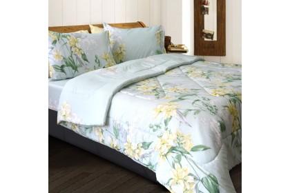 Essina Suria Comforter & Fitted Bed sheet set Cadar King / Queen 40cm High Mattress