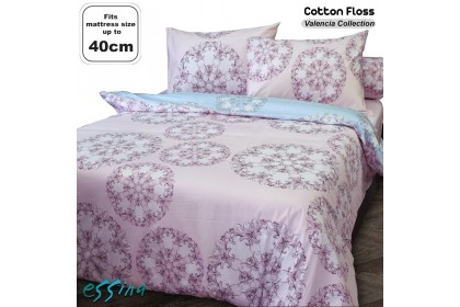 Essina 40cm High Mattress Modern & Stylish Valencia Comforter & Fitted Bed sheet set 100% Cotton 620 thread counts Cadar Queen / King , 5 Design Available