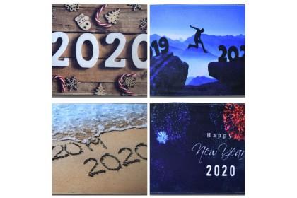 (Ready Stock) Welcome 2020 Anti Slip & Soft Floor Mat Entrance Mat Floor Mat Welcome Mats / Outdoor / Front Door / Bathroom Mats Rugs for Home/Office/Bedroom Non Slip Backing ( 60cm x 40cm )