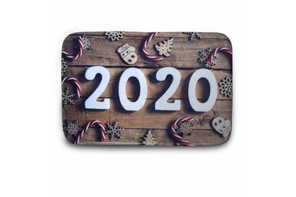 (Ready Stock) Welcome 2020 Anti Slip & Soft Floor Mat Entrance Mat Floor Mat Welcome Mats / Outdoor / Front Door / Bathroom Mats Rugs for Home/Office/Bedroom Non Slip Backing ( 60cm x 40cm )